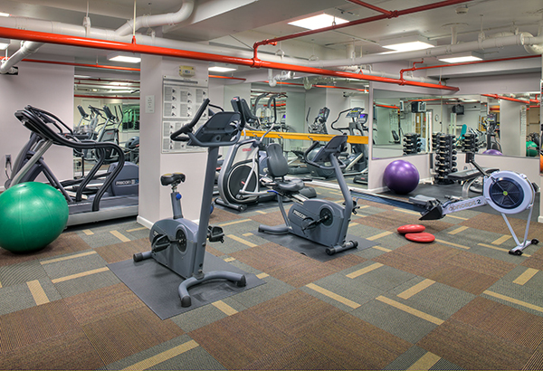 The Dorchester's Fitness Room